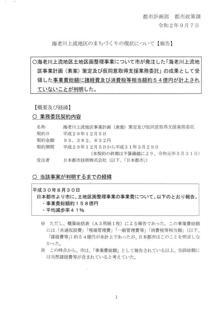 20200911海老川上流地区のまちづくりの現状報告のサムネイル